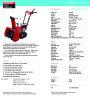 Honda HS622TC HS622TCS Snow Blower Catalog page 1