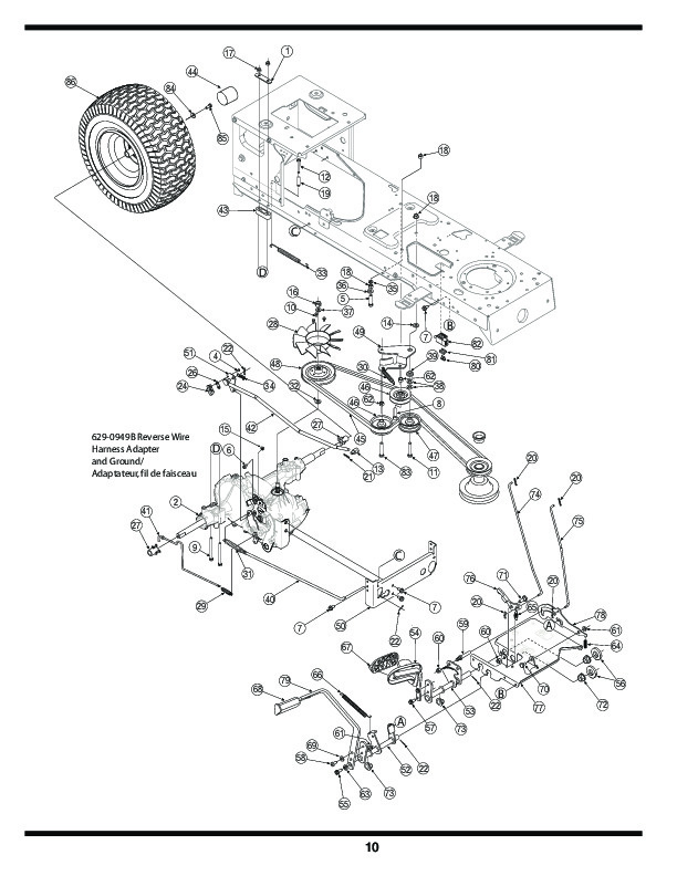 Huskee Riding mower parts Manual
