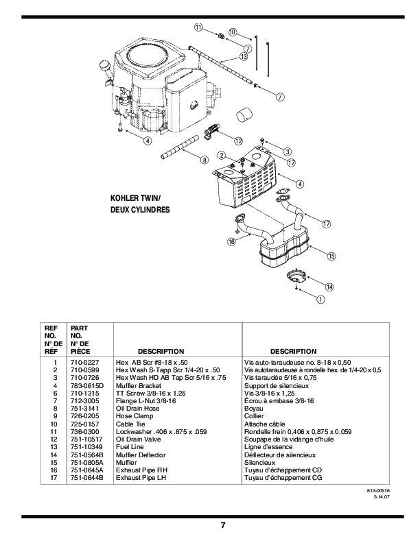 mtd lawn mower parts manual