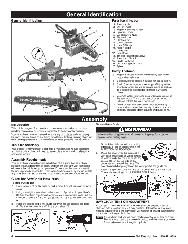 mcculloch minimac 14 16inch electric chainsaw owners manual snow blowers manuals snow thrower manual for model 24574