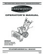 Yardworks 769-03250 Snow Blower Owners Manual by MTD page 1