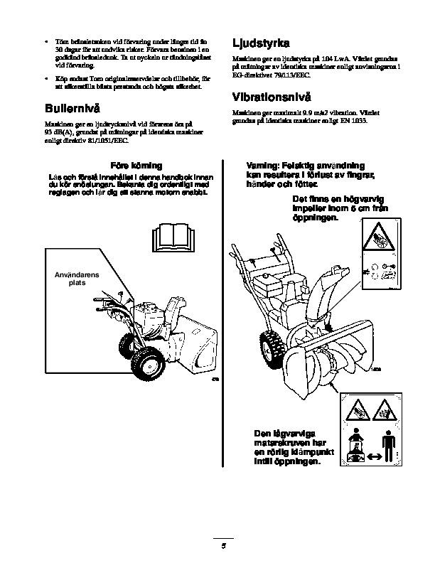 Toro 38053 824 Snowblower Operators Manual  2000