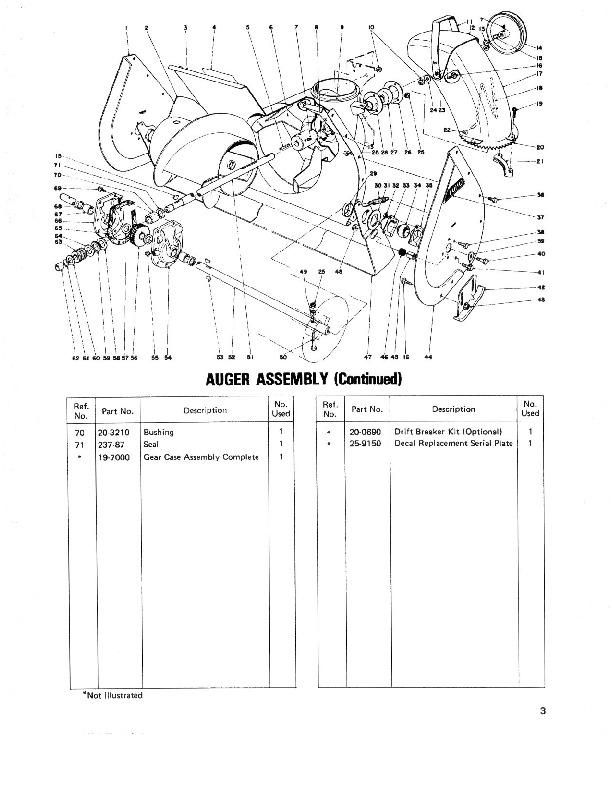 toro 38050 724 snowblower parts catalog  1979