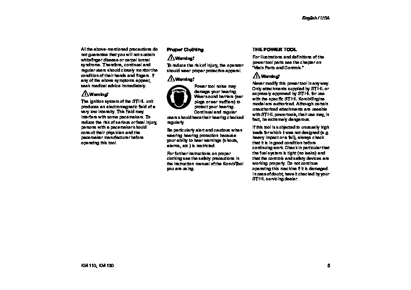 Km 110 r Manual
