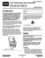 Toro CCR 6053 R Quick Clear 38567 38569 Snow Blower Operators Manual, 2011 page 1