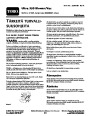Toro 51569 Ultra 350 Blower Manual, 2006-2007 – Finnish page 1