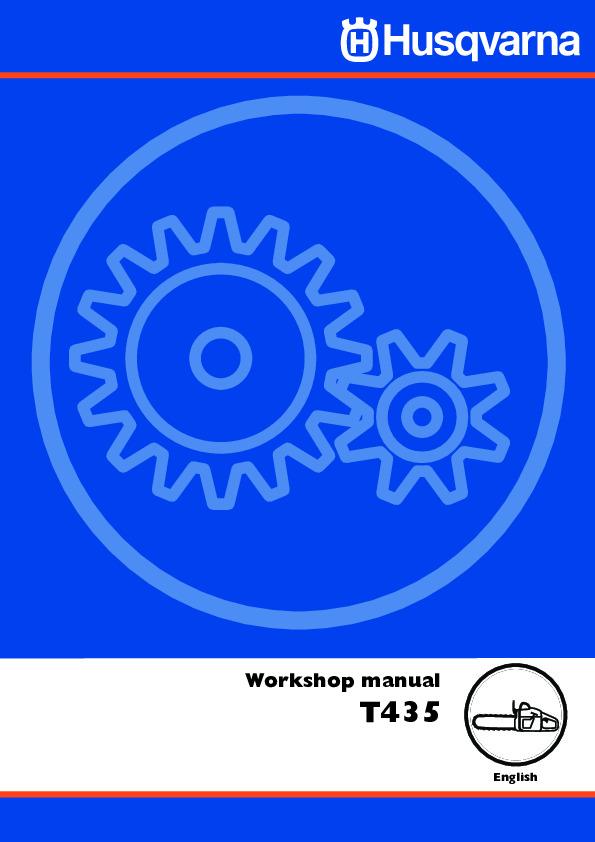 Husqvarna T435 Chainsaw Workshop Manual