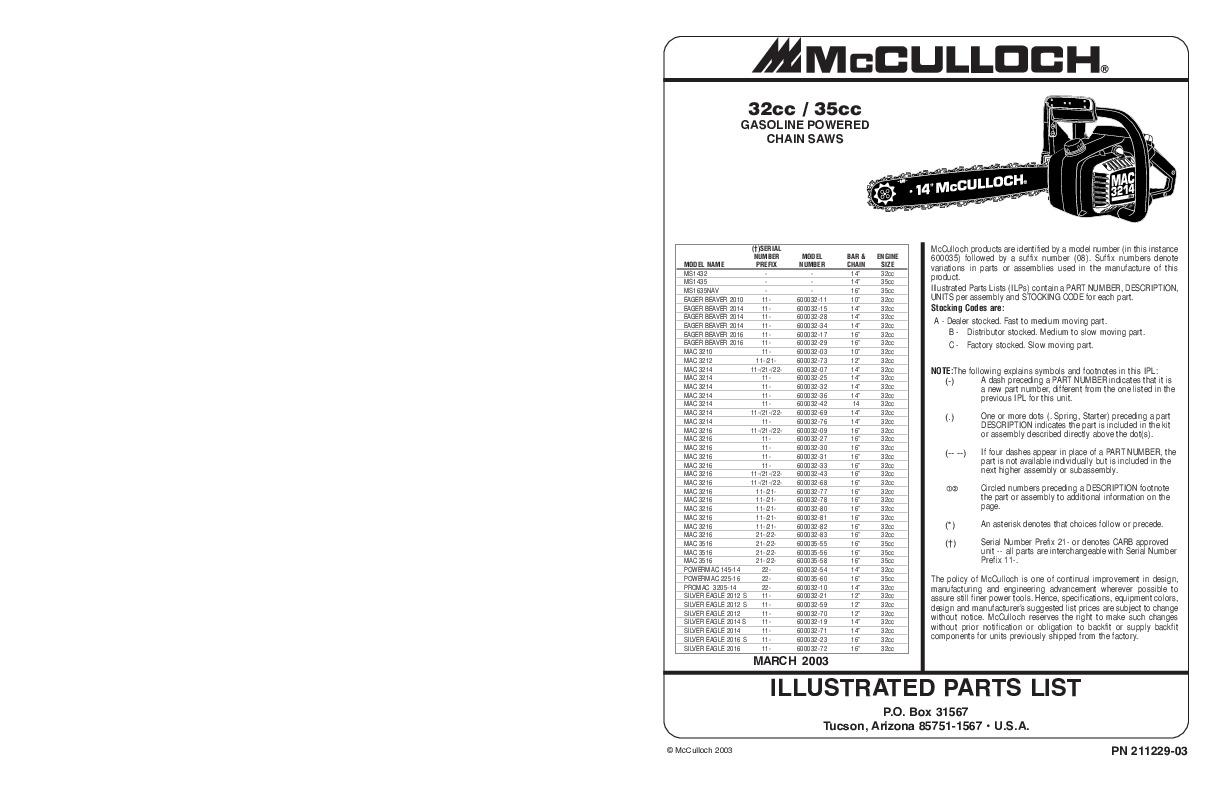 Mac 3214 manual