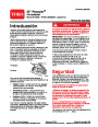 Toro 20005 22-Inch Recycler Lawn Mower Operators Manual, 2006 – Spanish page 1