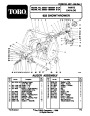 Toro 622 38062 Snow Blower Parts Catalog, 1999 page 1