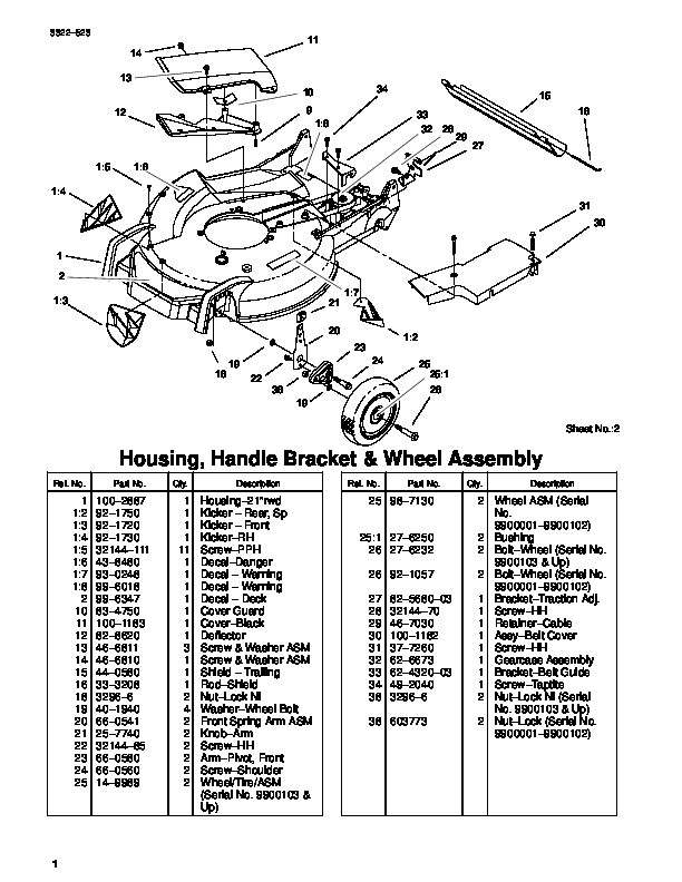 1999 Toro 20044 21 Inch Super Recycler Sr 21os Lawn Mower Parts Catalog on lawn mower diagram and parts list for craftsman walk