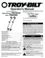 MTD Troy-Bilt TB415CS TB465SS 4 Cycle Trimmer Lawn Mower Owners Manual page 1