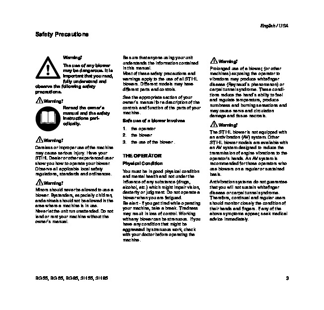 Stihl 85 service Manual