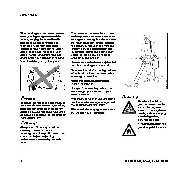 Stihl Sh 86 manual De feuilles