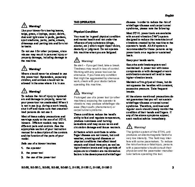 Stihl Sh 86 manual