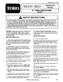 Toro 16410 16411 21-Inch Lawn Mower Operators Manual page 1