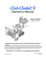 MTD Cub Cadet 730 STE Snow Blower Owners Manual page 1