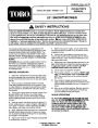 Toro CCR 100 1000E 38400 38405 20 Inch Single Stage Snow Blower Parts Manual page 1