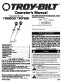 MTD Troy-Bilt TB525CS TB575SS 4 Cycle Gas Trimmer Owners Manual page 1