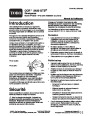 Toro CCR 2450 GTS 38536 Snow Blower Operators Manual, 2004 – French page 1