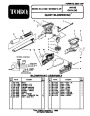 Toro 51556 Quiet Electric 850 Blower Vacuum Parts Calatog page 1