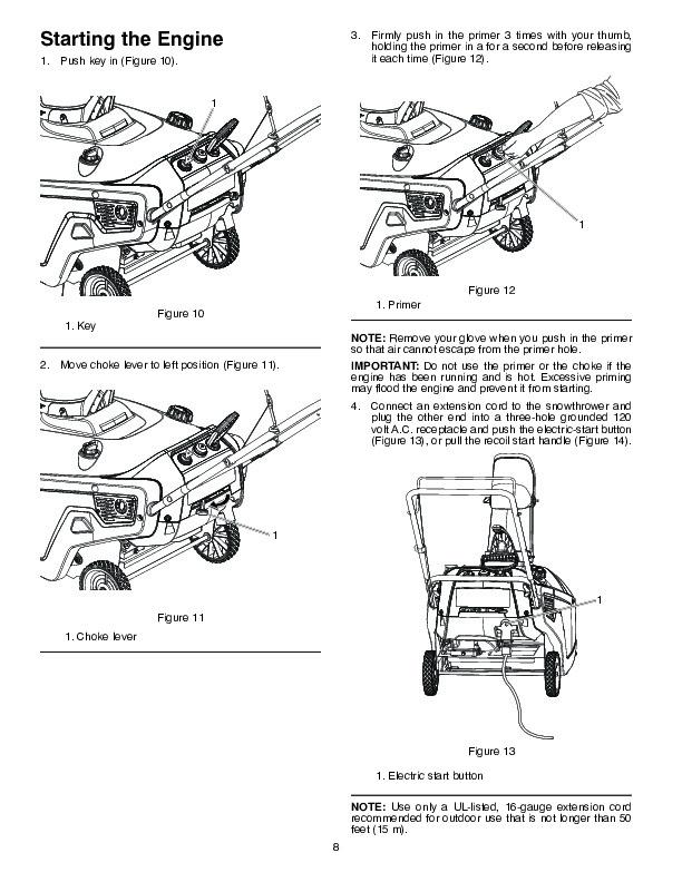 poulan pro pr621es 436439 snow blower owners manual