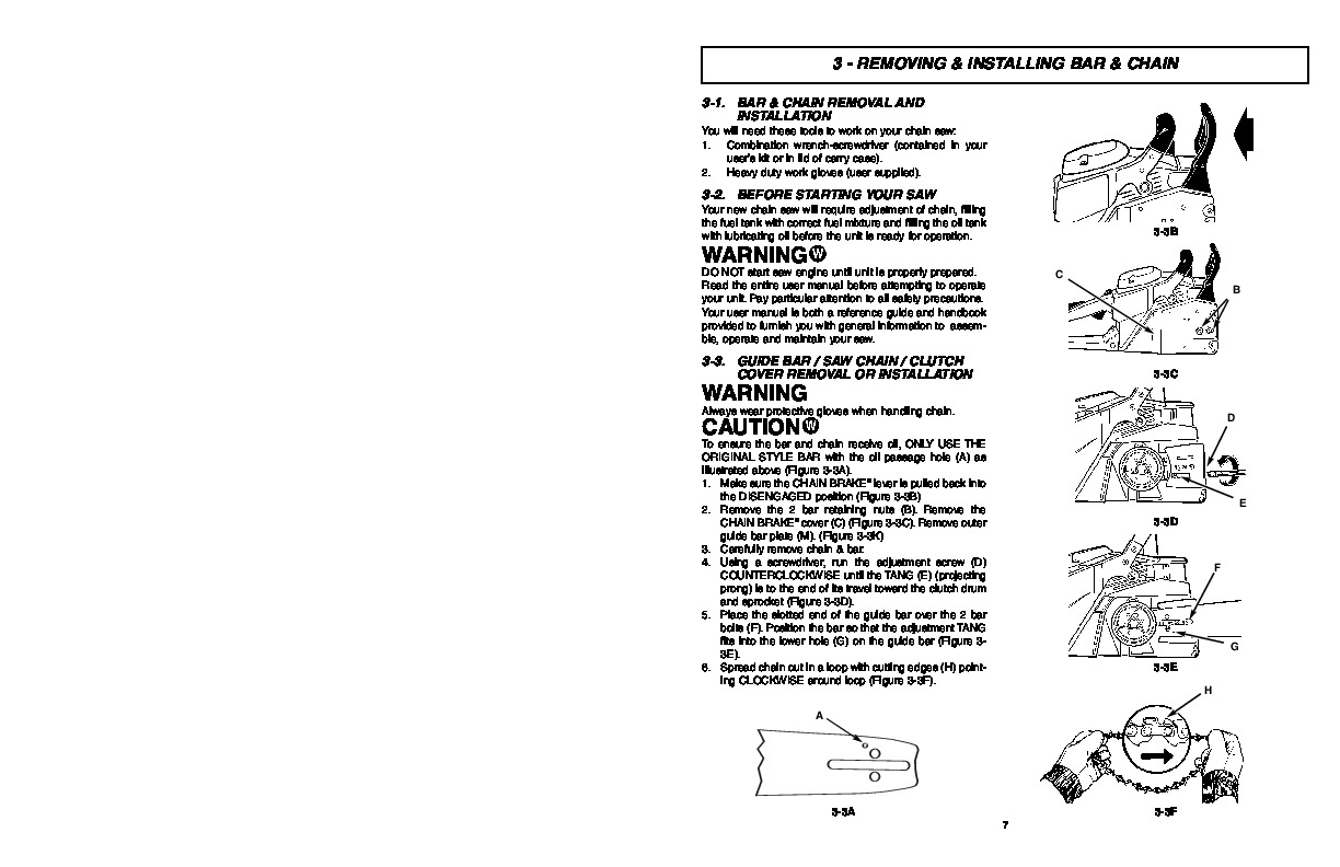 Mcculloch timberbear tm502 chainsaw owners manual mcculloch timberbear tm502 chainsaw owners manual page 7 biocorpaavc Image collections