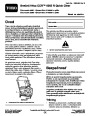 Toro CCR 6053 R Quick Clear 38567 38569 Snow Blower Operators Manual, 2011 – Slovak page 1