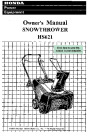 Honda HS621 Snow Blower Owners Manual page 1