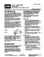 Toro CCR 2450 GTS 38536 Snow Blower Operators Manual, 2004 – German page 1