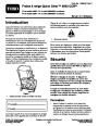 Toro CCR 6053 Quick Clear 38576 38577 Snow Blower Operators Manual, 2008 – French page 1