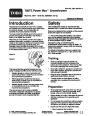 Toro Power Max 726TE 38611 Snow Blower Operators Manual, 2005 page 1