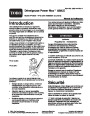 Toro Power Max 828LE 38632 Snow Blower Operators Manual, 2004 – French page 1