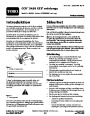 Toro CCR 2450 GTS 38535 Snow Blower Operators Manual, 2007 – Swedish page 1