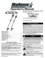 MTD Bolens BL100 BL150 Gas Trimmer 2 Cycle Lawn Mower Owners Manual page 1